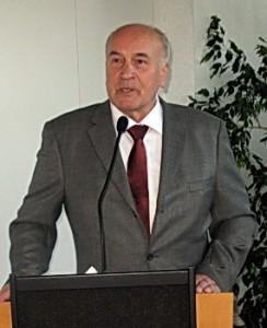 Wolfgang Bauer bei der Eröffnung