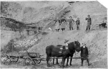Die Buringer Schottergrube um 1920