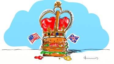 2018 royalwedding Hamburger und Plumpudding