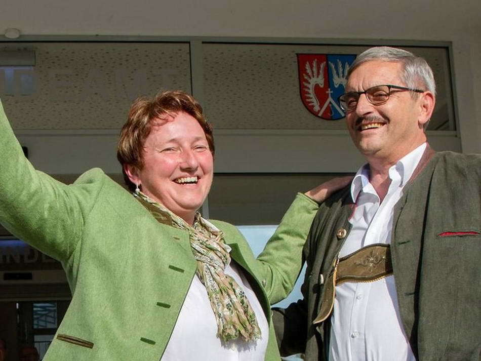 Andrea Pabinger mit Hans Grießner
