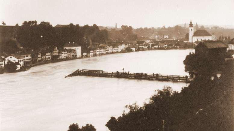 Oberndorf 1899 Steg weggerissen