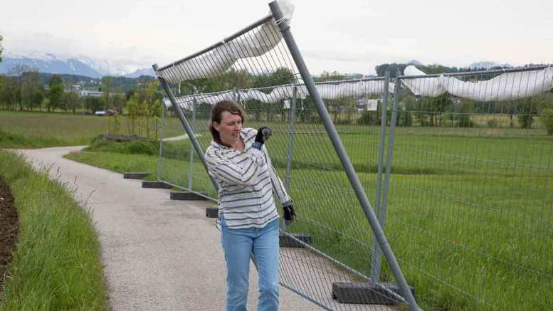 Angelika Wischermann - Zaunbewegung | Fotos: Karl Traintinger