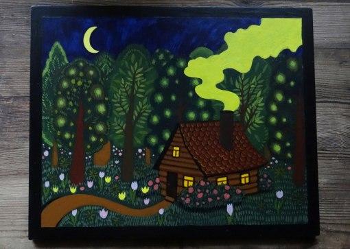 Настенное панно Домик в лесу