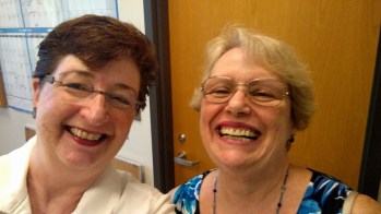 "Enjoying a laugh with Margaret ""Peggie"" Gannon"