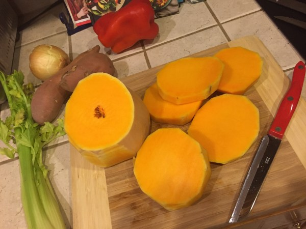 Prepping butternut squash aka the best arm workout ever