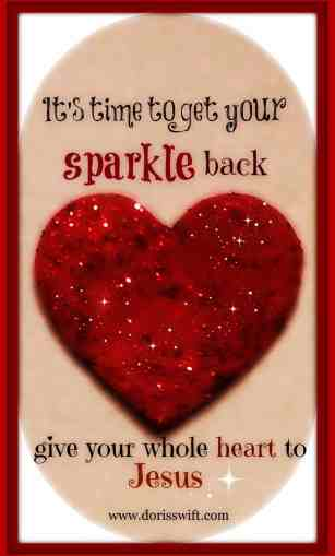 heart to Jesus sparkle heart
