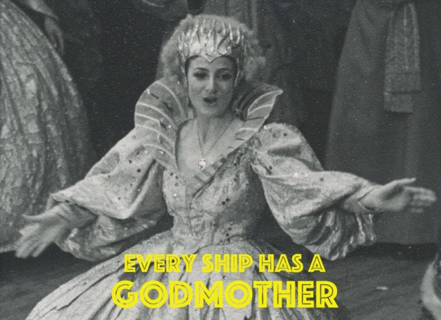 "Happy Mothers day – Every ship has a Godmother? – ""Oh yes it does!"""