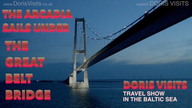 Great Belt Bridge – cruising under the TV star in the Midnight Sun