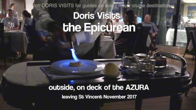 Epicurean – Fine Dining restaurant option at P&O