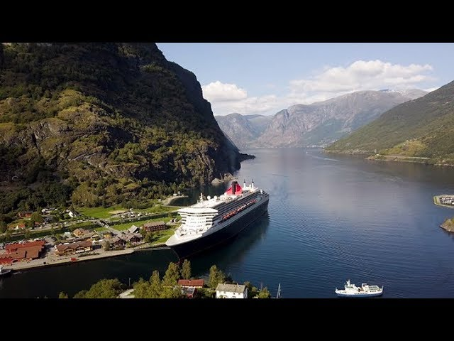 FLAM -Cycle option Finse to Flam – overview route and cycles by DRONE