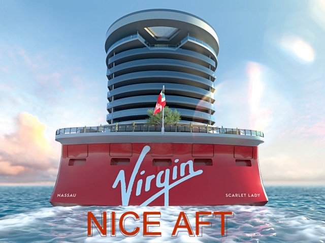 Is this the end? Does my Aft look big in this? We look at the back of Virgin Voyages new ship and ask …