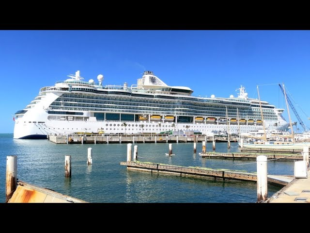 Serenade of the Seas – berthed with some smaller ships, or are they