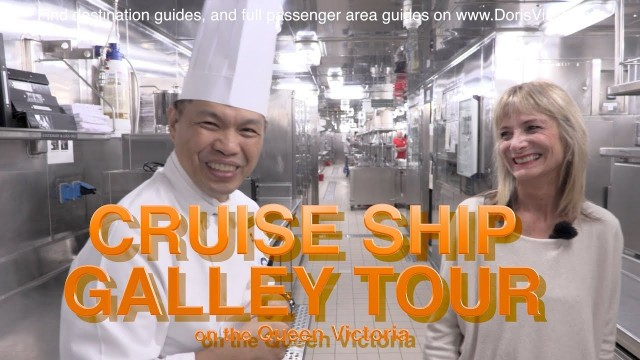 Cruise Ship Kitchen  – What is inside – Filmed Galley Tour