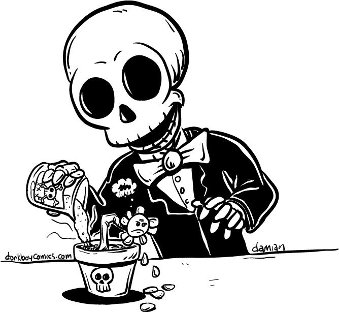 Skully – green thumb