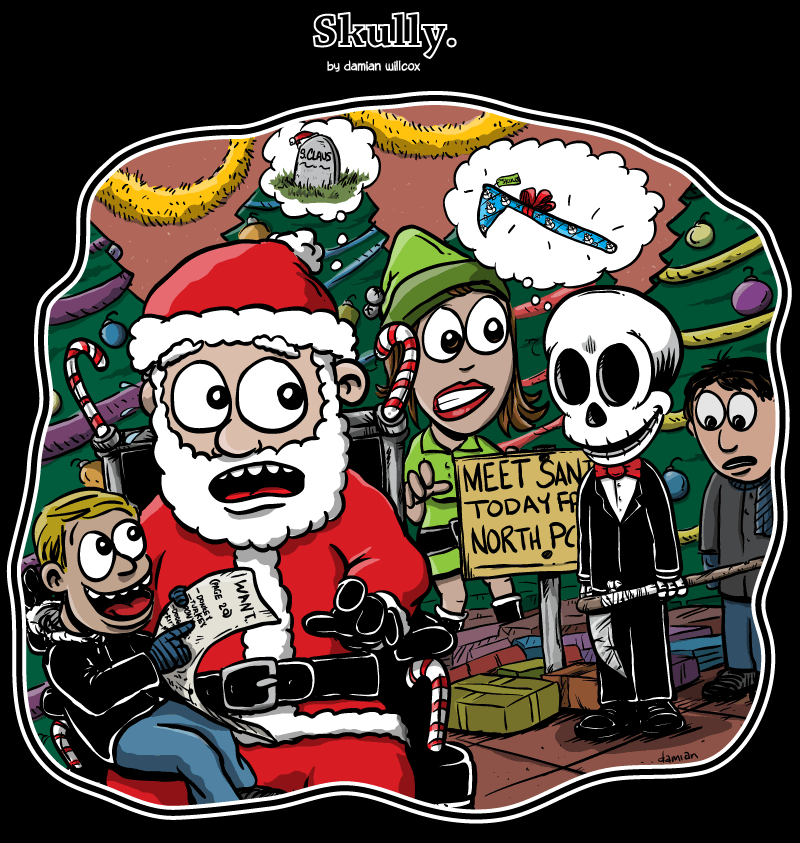 Skully – Christmas at the maul…