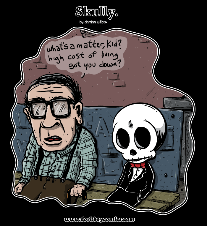 Skully – bus bench economics