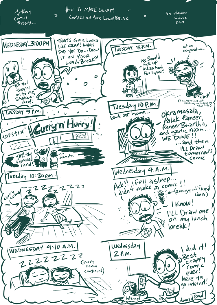 How to make a crappy comic on your lunchbreak…