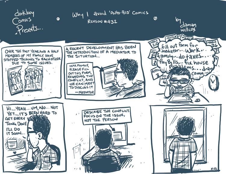 Why I avoid 'autobio' comics reason #432
