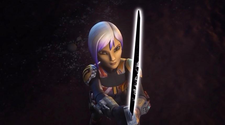 Sabine wields the Darksaber