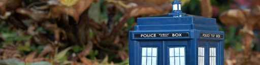 Doctor Who Header featuring The TARDIS