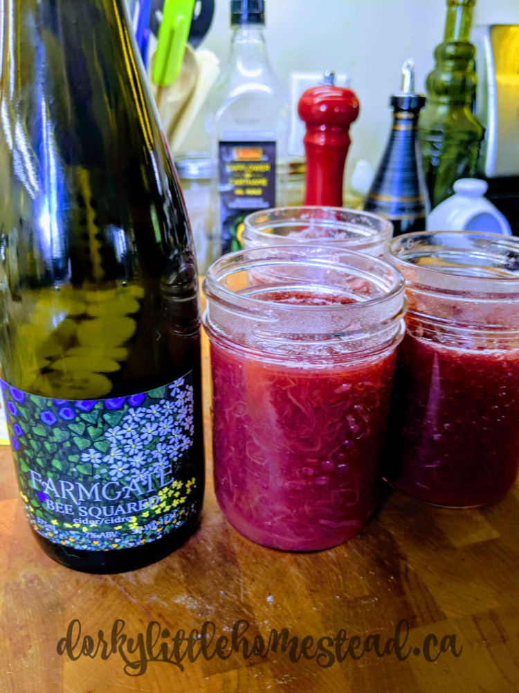 Rhubarb jam paired with Farmgate Cider