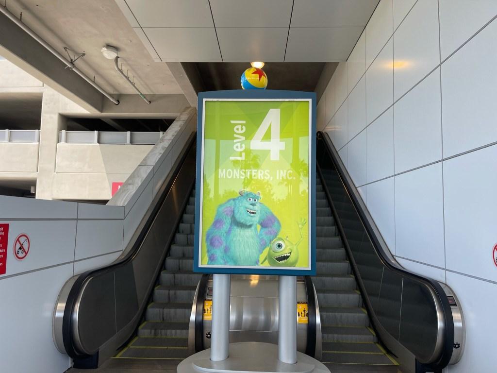 pixar pals parking structure