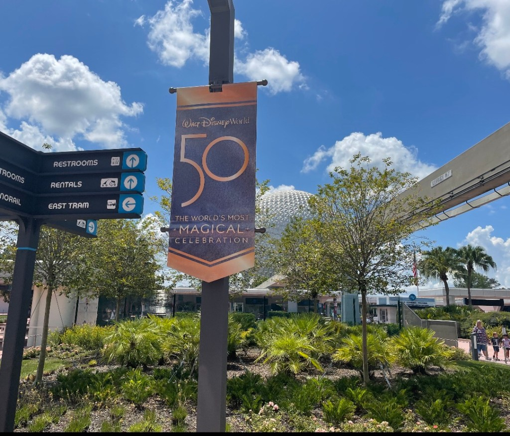 epcot 50th banner
