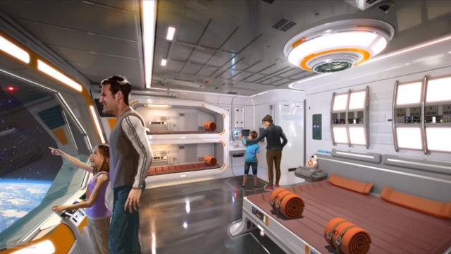 star wars: Starcruiser cabin concept art