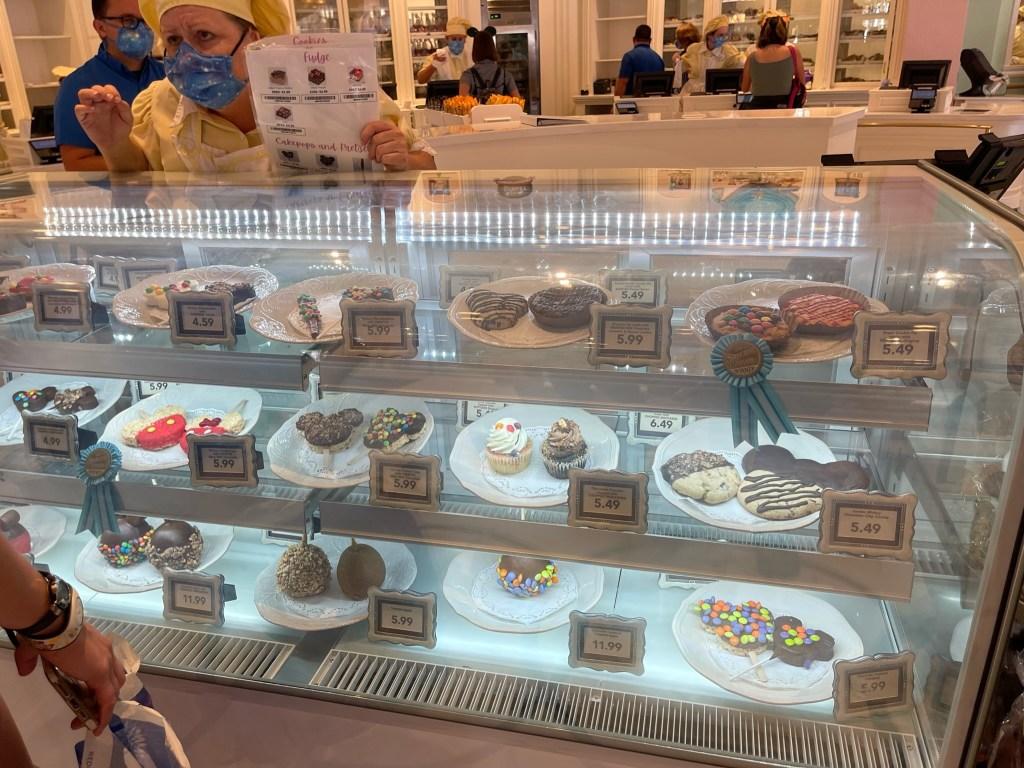 confectionery case at magic kingdom
