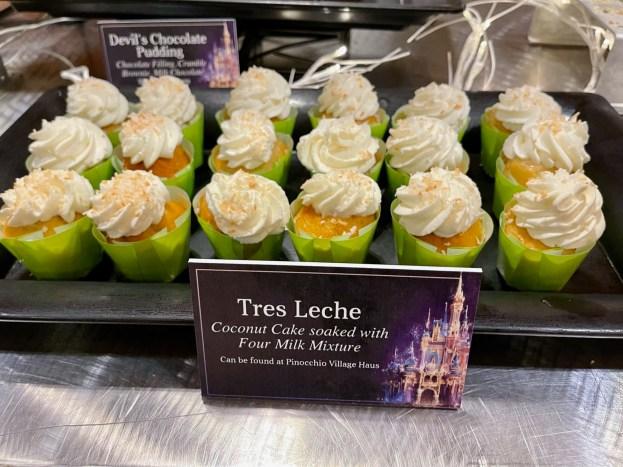 tres leche cake at disney enchantment dessert party