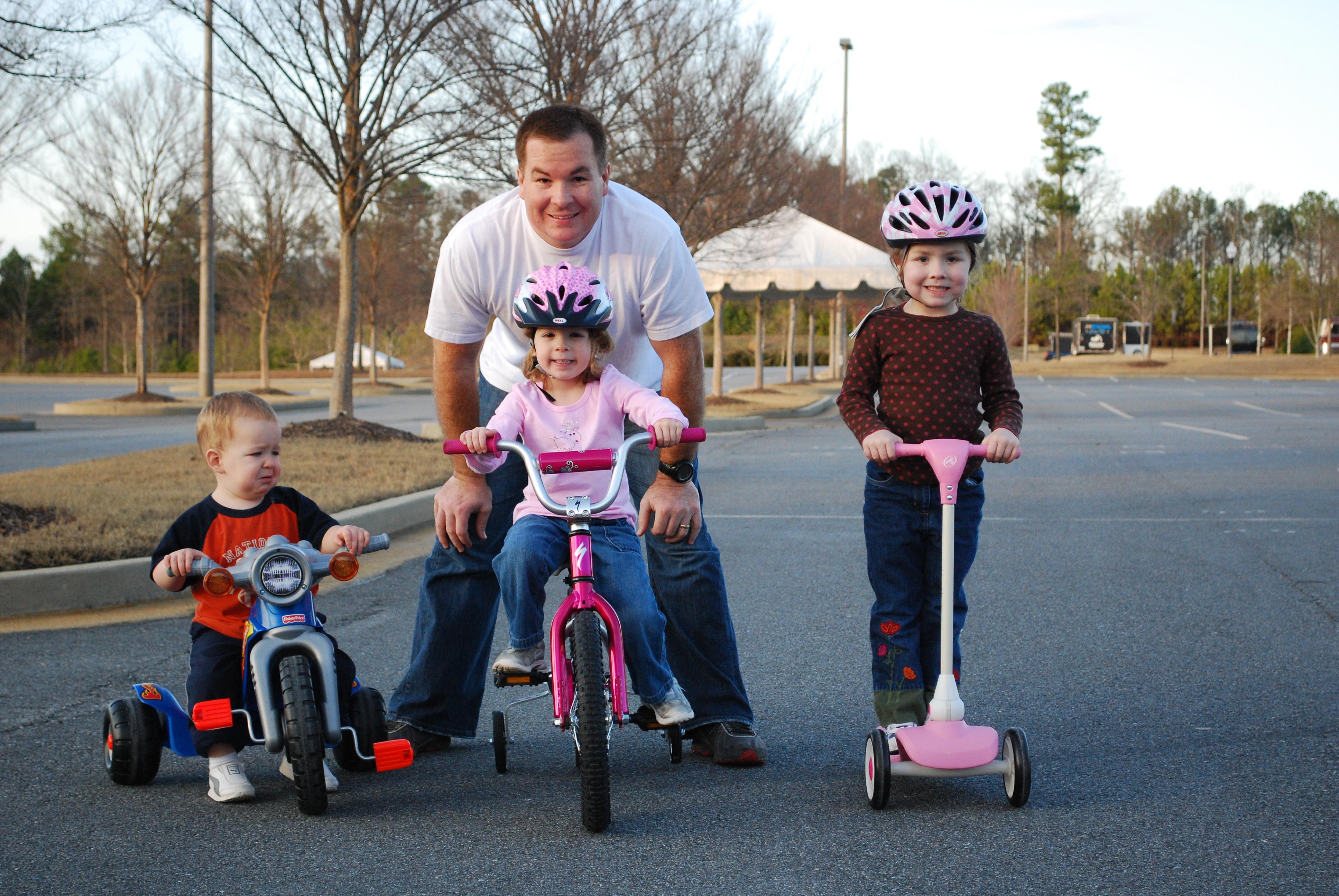 Josh with the bikers