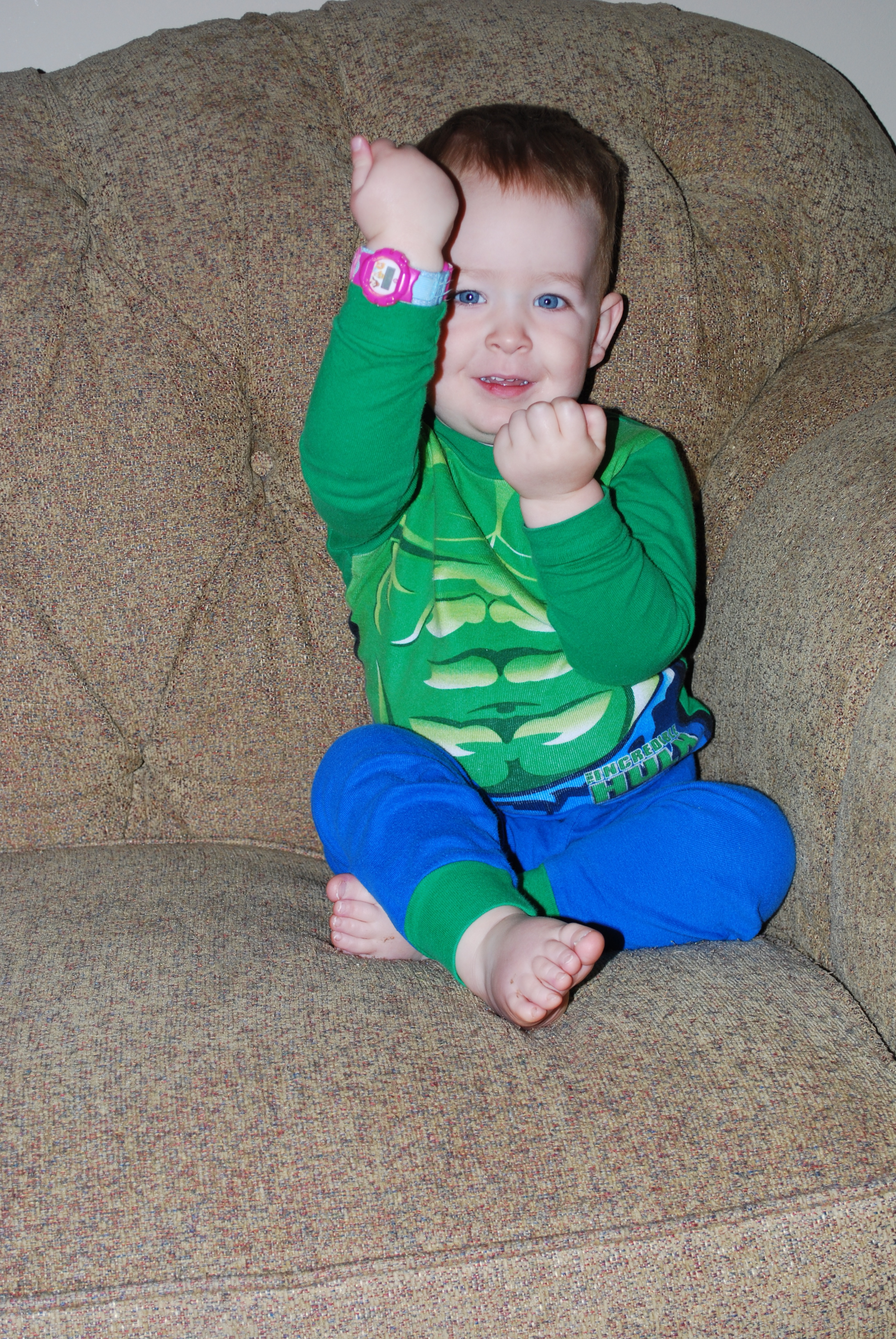 The Hulk wearing a princess watch...this may go over the line in Josh's book!