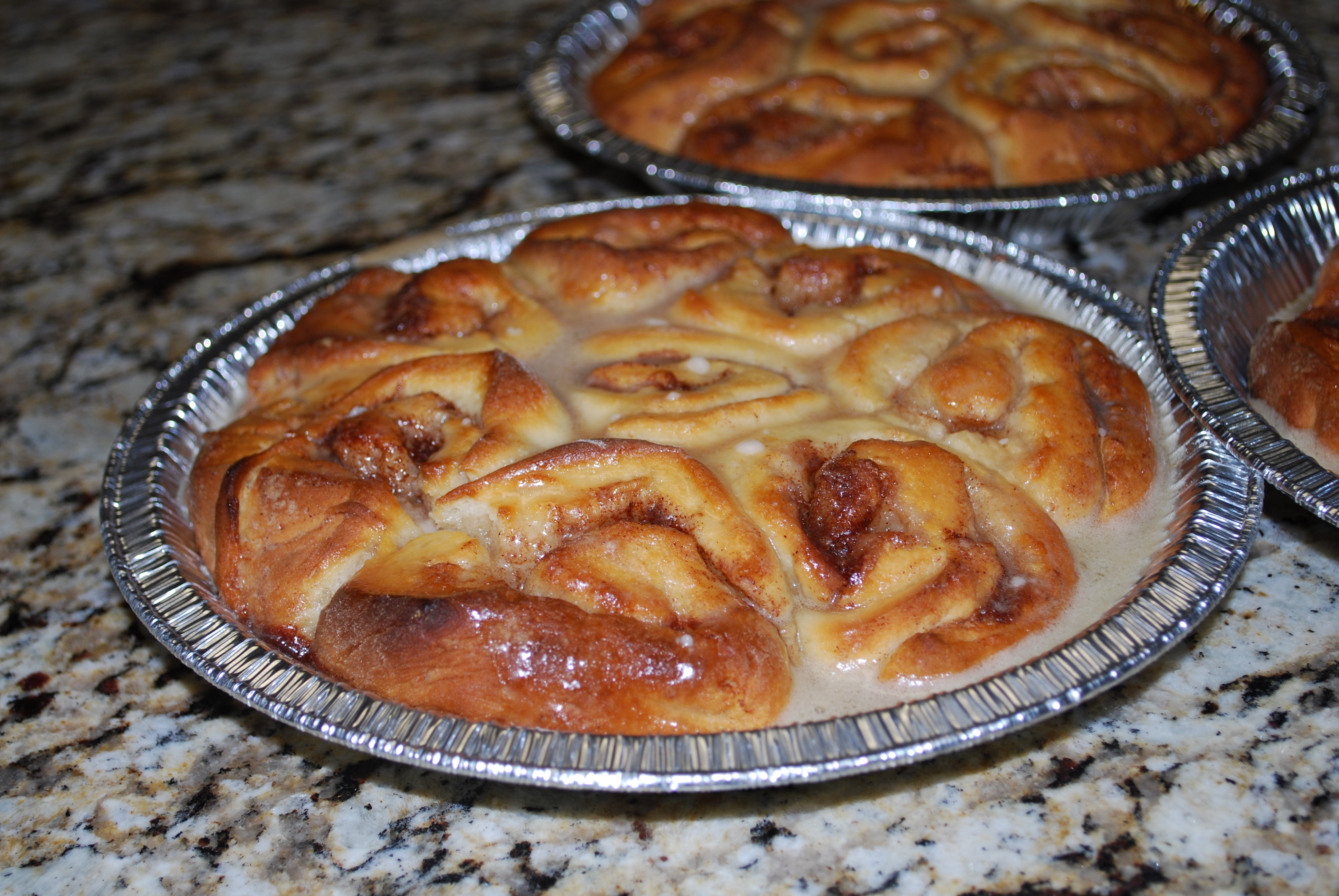 ok, so one more food shot...I made these cinnamon rolls from scratch!