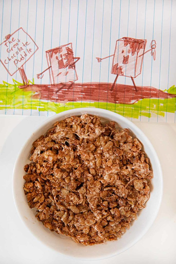 microwave nutella rice krispies treat