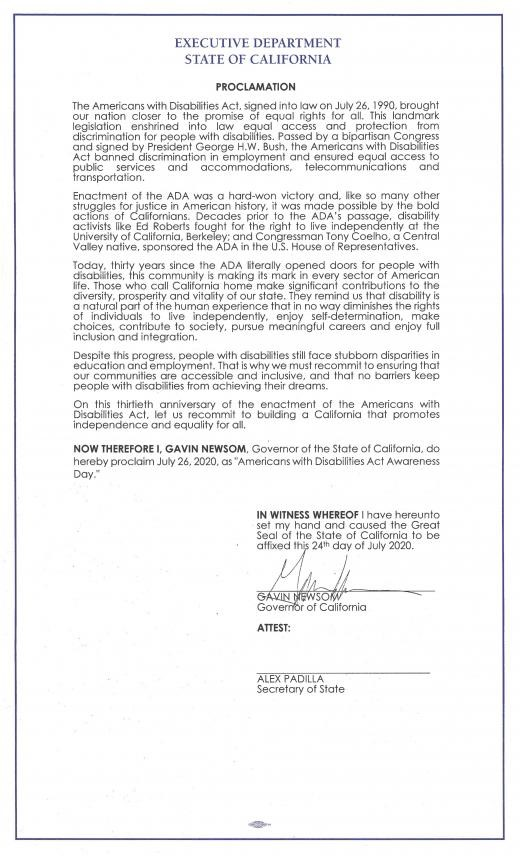 Image of Proclamation. Text of proclamation included in the body of the post.