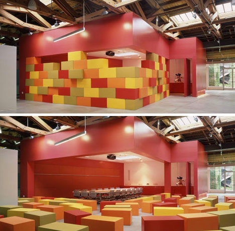 Playful office interior fit for childrens toy company for Office design events
