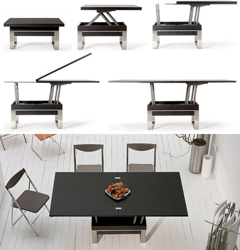 Transforming Tables Convert Coffee To Dining Surfaces Designs Ideas On Dornob