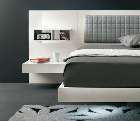 cool floating futuristic bed & modern headboard design