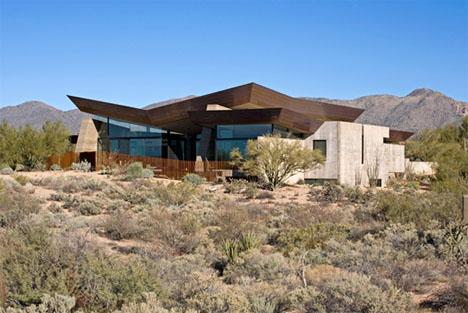 rammed earth desert home