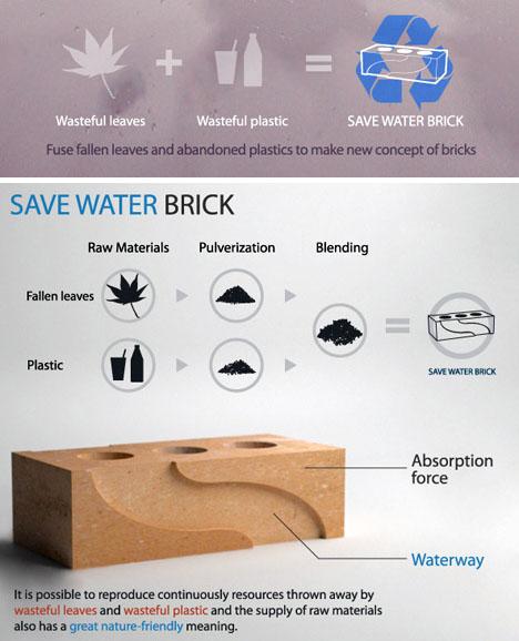 eco recycled brick idea