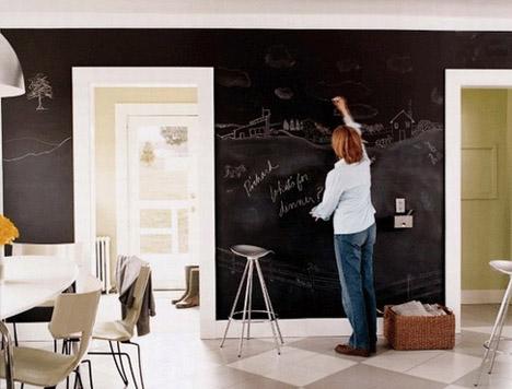Dry Erase DIY Slate Black Paint For Full Wall Chalk Boards