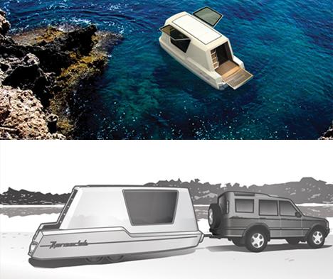 Aquatic Caravan Floating Travel Trailer Water Ready RV
