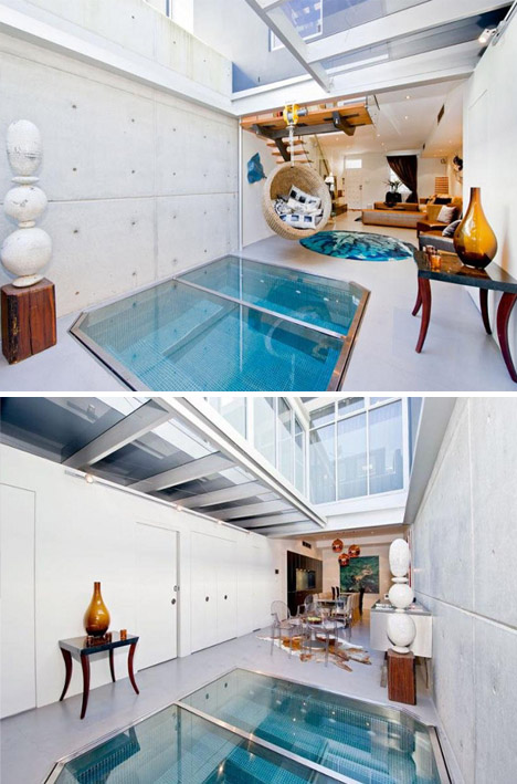 Space-Saving Spa: Small Indoor/Outdoor Living Room Pool ... on Outdoor Living Spa  id=85217