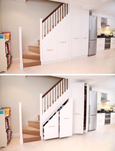 Stair Into Space 5 Custom Under Staircase Storage Systems