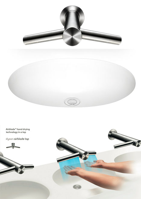 drip free faucet hand dryer designs