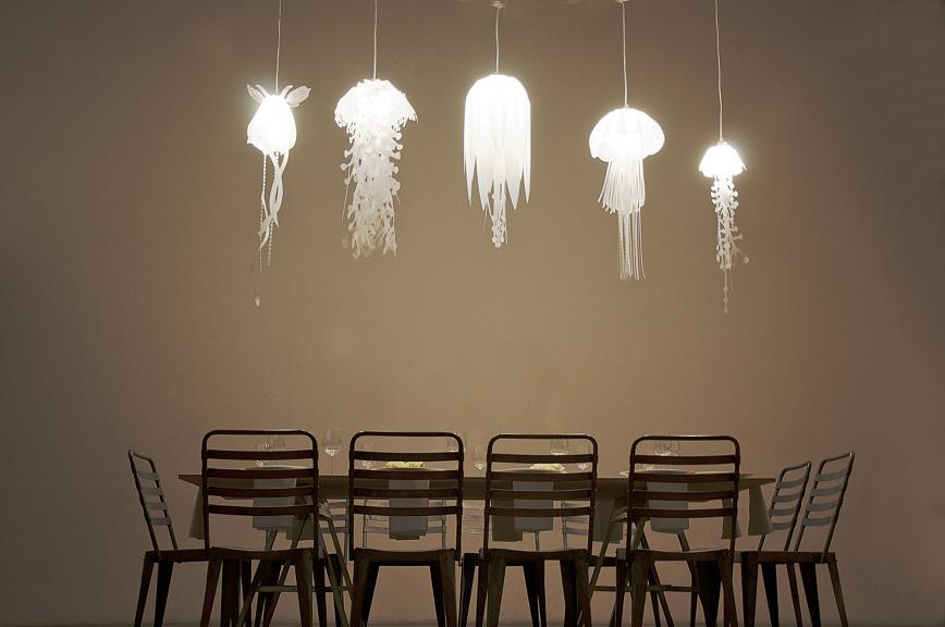 medusae ethereal jellyfish lamps