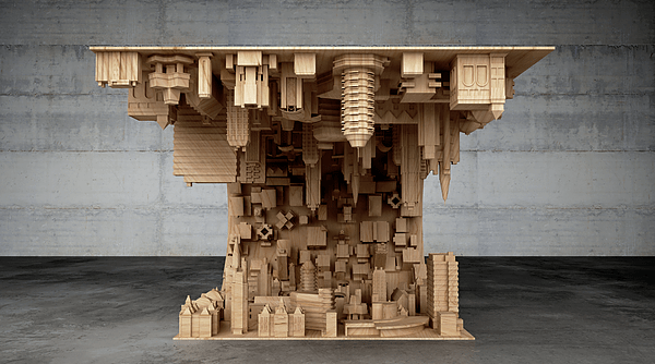 Inception-Inspired Coffee Table Flips a City Upside Down ...