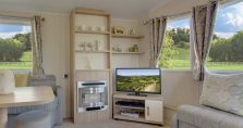 CONTEMPORARY FIRE SURROUND AND FREE STANDING TV UNIT