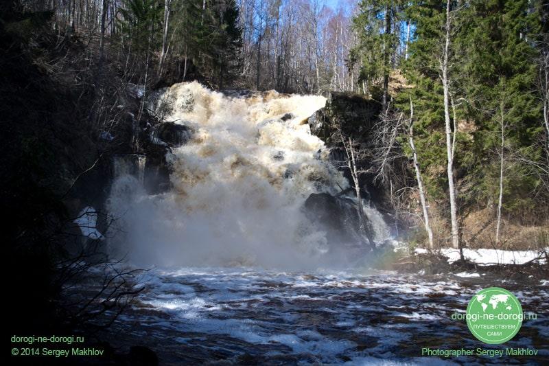 Водопад Юканкоски в мае