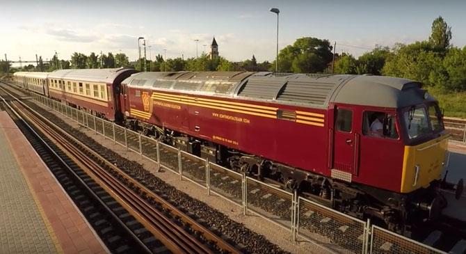 Nem hétköznapi vonat állt meg a dorogi vasútállomáson